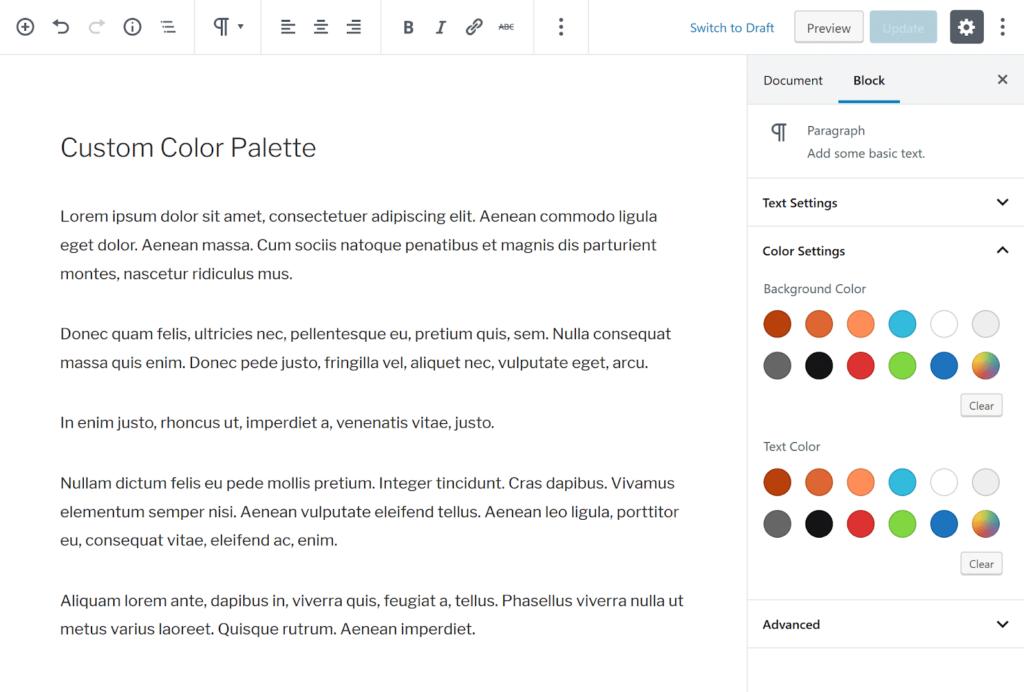 custom color palette - The 10 best Gutenberg WordPress plugins for building a website