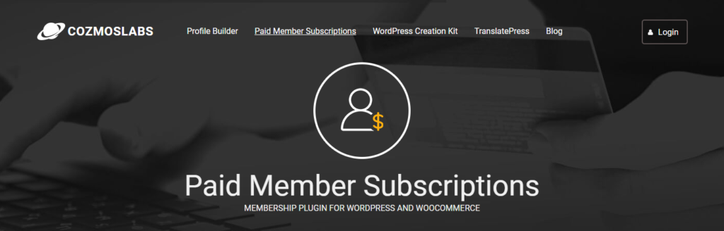 Screenshot of Paid Member Subscriptions