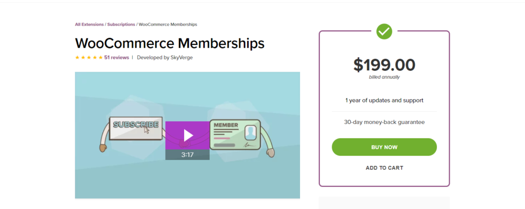 Screenshot of WooCommerce Memberships