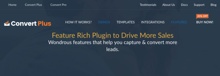 Convert Plus - Feature Rich Plugin to Drive More Sales