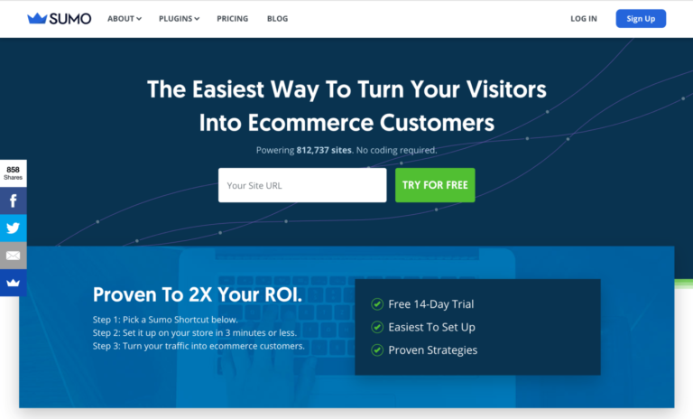 sumo - The Easiest Way To Turn Your Visitors Into Ecommerce Customers