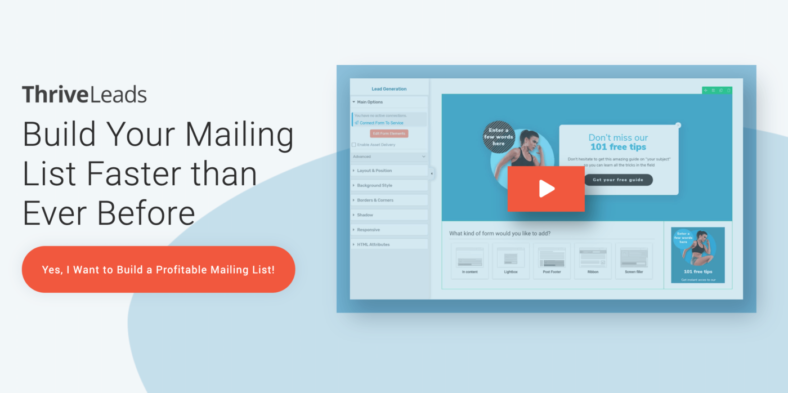 ThriveLeads - Build Your Mailing List Faster than Ever Before