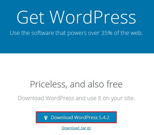 Screenshot Download WordPress 5.4.2