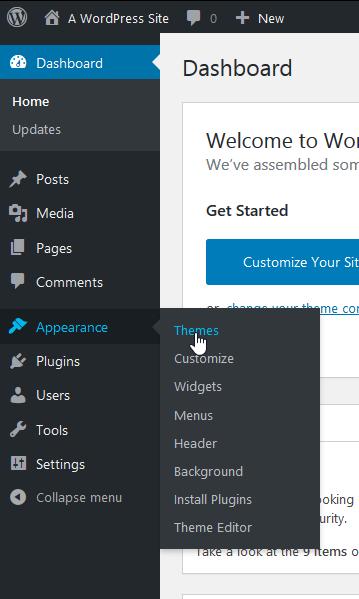 Screenshot WordPress Dashboard