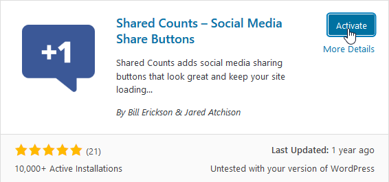 "Activate ""Shared Counts"""