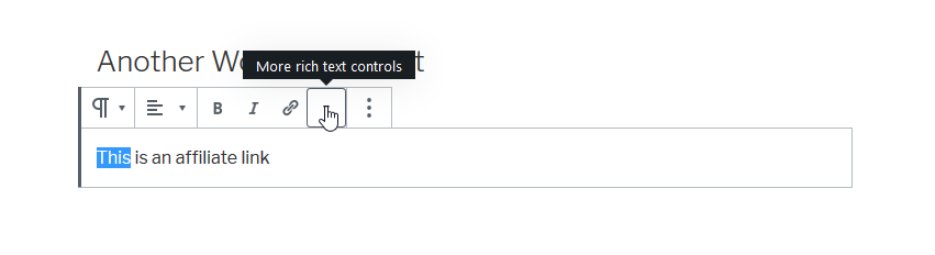 "Choose  ""More rich text controls"""