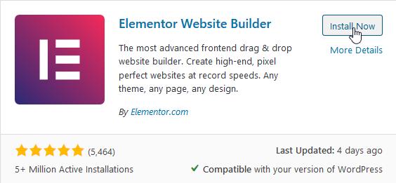 Install Elementor