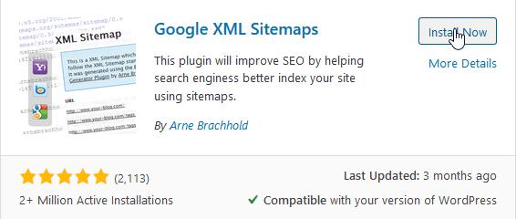 "Install ""Google XML Sitemaps"""