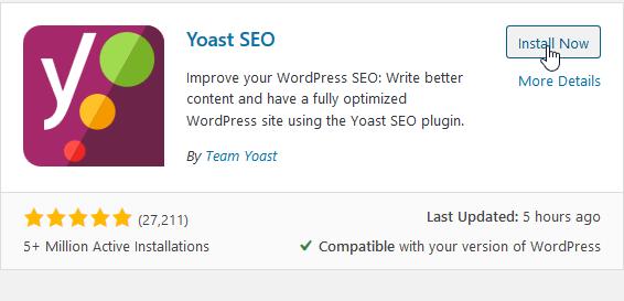 """Install """"Yoast SEO"""""""
