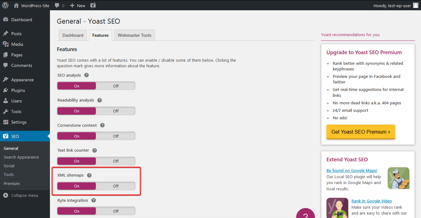"Check out ""XML sitemaps"" feature"