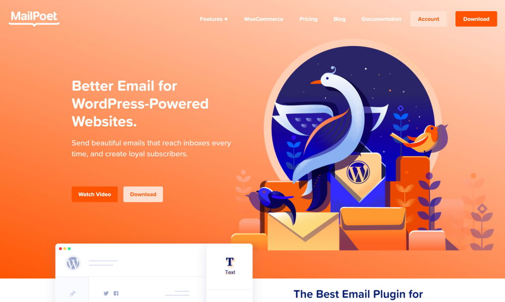 Screenshot Mail Poet: Better Email for WordPress-Powered Websites