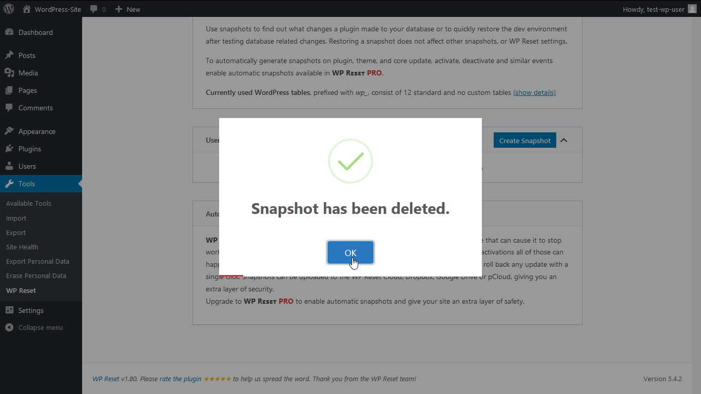 Snapshsot has been deleted.