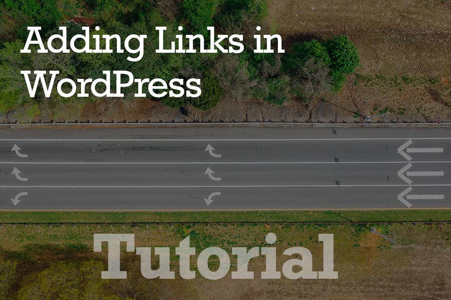 tutorial adding links - Adding Links in WordPress - Step by Step