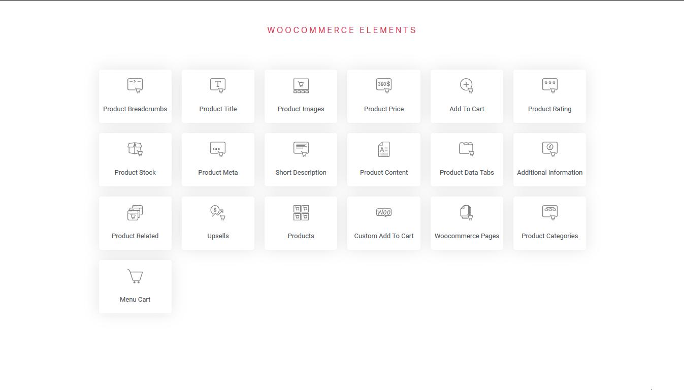 woocommerce elements