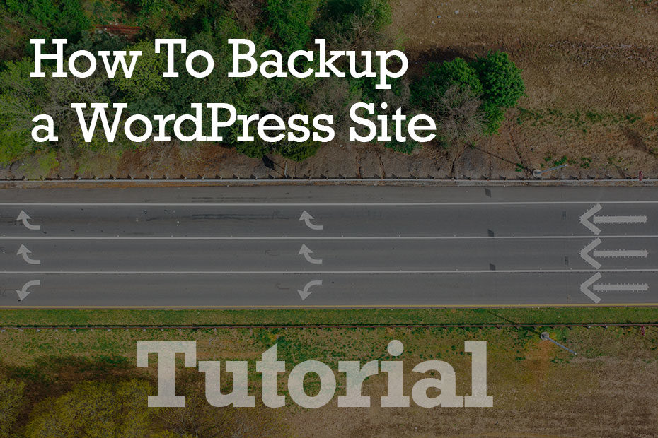 tutorial backup 1 - How to Backup a WordPress Site