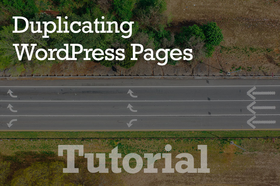 tutorial duplicate - How To Duplicate WordPress Pages