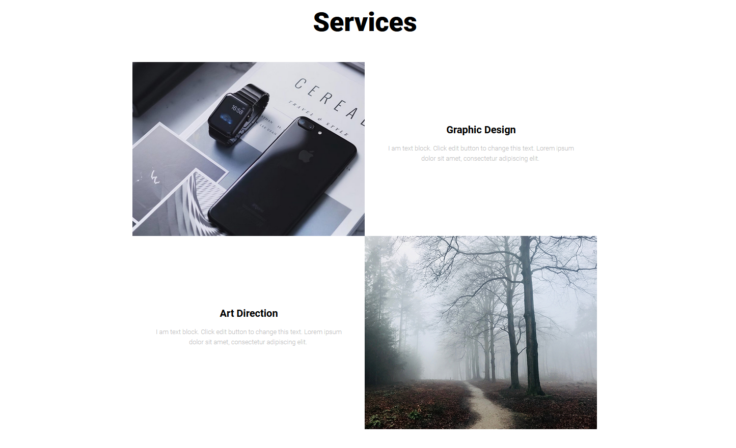our service template