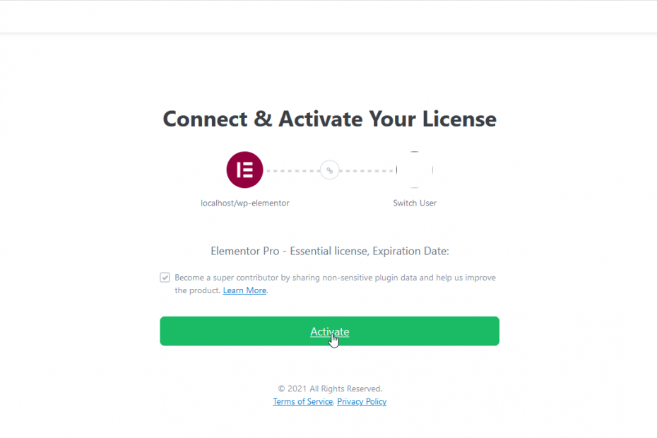 click activate your license - How to Install Elementor Pro